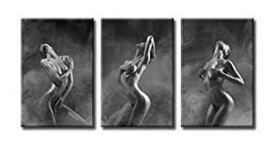 Nude Woman Painting - Sexy Canvas Wall Art - 3 ... - Amazon.com