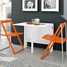 Folding Dining Room Table Space Saver Cool Spazio White Folding Console Kitchen Table As A Simple Modern