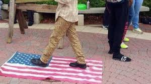 Image result for american flag defacing laws