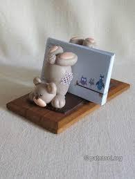 МК <b>мишка</b> подставка из фарфора | Полимерная глина на ...