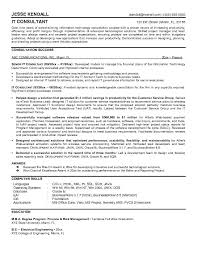 example information technology consultant resume samplesample resume
