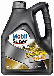 <b>Масло</b> моторное 5W40 MOBIL 4л синтетика <b>MOBIL SUPER</b> 3000 X1