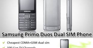 Latest Samsung Primo Duos Dual SIM phone GSM/CDMA mobile ...