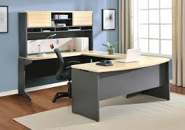 entertaining l shaped gray wooden awesome color home office