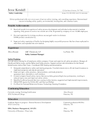 environmental health and safety resume examples resume examples  top