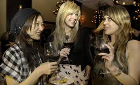 From left: Mari Mishimura, Abigail Jansen-Lonnquist, and Giovannah Chiu were among the guests at the Youth Design party at the Liberty Hotel. - 539w