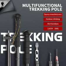 one Set Travel Tactical Stick <b>Walking Stick Survival</b> Tool 116cm ...