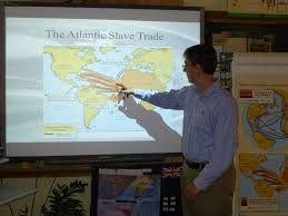 my teaching journey the route on a slave ship la amistad using a large map on the smart board the students gave me the locations to connect using the digital pens