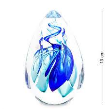 <b>Пресс</b>-<b>папье GLASSRemis</b>, <b>13</b>*9 <b>см</b>, синий/бирюзовый, капля ...
