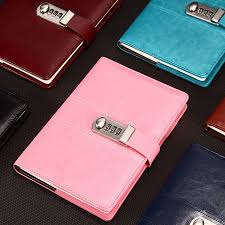 <b>New Leather notebook</b> paper Personal <b>diary</b> with Lock code ...