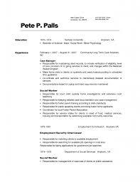 Social Worker Resume  sample resume objective statements       sample resume for social