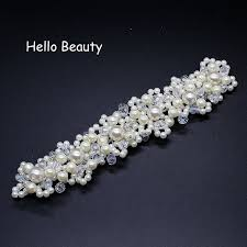 Handmade Crystal Head Piece Bridesmaid <b>Hair Accessories White</b> ...