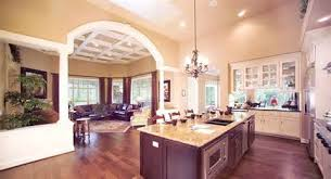 House Plans With Gourmet Kitchens   Home KitchenRanch House Open Floor Plan Kitchen