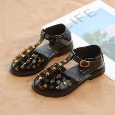 Hot <b>Summer</b> New Fashion <b>Rivet</b> Baby Girls <b>Sandals</b> White Beige ...