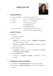 vitae resume resume badak modelo de curriculum vitae