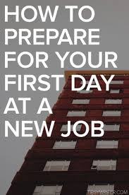 1000 images about employment teaching tools resume how to prepare for your first day at a new job