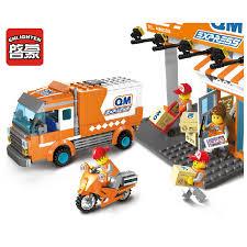 <b>Enlighten</b> Building Block <b>City</b> Series QM <b>Express</b> Car 1119 <b>337pcs</b> ...