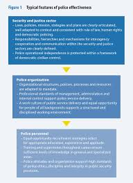 dcaf ssr backgrounders the police figure 1 shows some of the typical sector wide organizational and individual features of police effectiveness