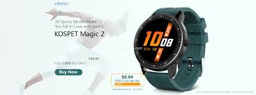 <b>Kospet MAGIC 2</b> Review - 30 Sport Modes Smartwatch at $24.99