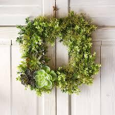 living christmas wreath succulents needles