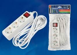 <b>Удлинитель</b> с заземлением и выключателем <b>Uniel</b> 02922 <b>S</b> ...
