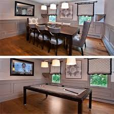 pool table dining tables: dining room table converts to pool table and tv is behind mirror genius also