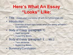 how to structure  amp  write an essay