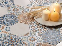 Hexagon Tile Floor Patterns 25 Beautiful Tile Flooring Ideas For Living Room Kitchen And