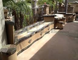 patio surround bench firepit table planter enclosure