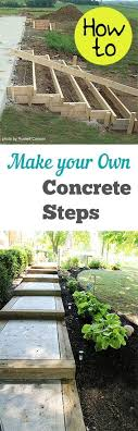 patio steps pea size x: how to make your own concrete steps