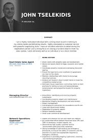 real estate resume samples   visualcv resume samples databasereal estate sales agent resume samples
