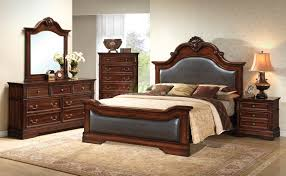 bedroom furniture set with leather headboard and footboard 134 xiorex brown leather bedroom furniture