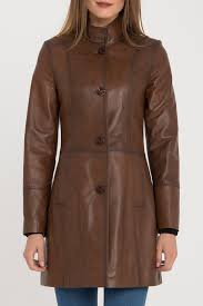 <b>Кожаная куртка IPARELDE</b> арт B105_CHESTNUT CHESTNUT ...