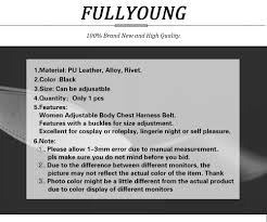 <b>Fullyoung Leather</b> Harness Underwear 2 Piece Fashion Garters ...