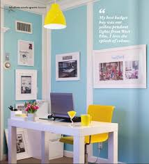 yellow office blue and and yellow on pinterest blue office decor
