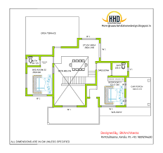 story house design and plan   Sq  Feet   Indian House Plans storey house first floor drawing   Sq  M   Sq  Feet