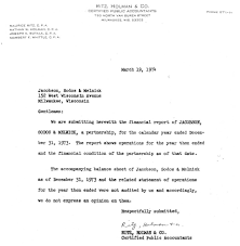 wisconsin illinois iowa injury law firm and abraham s c accountant s letter 19 1974