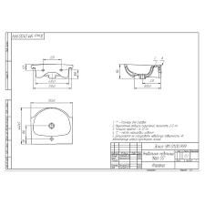 Купить Раковина для тумбы CERSANIT <b>Nati</b> 550 мм UM-NAT55/1 ...