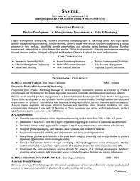 product management and marketing executive resume example | job ...