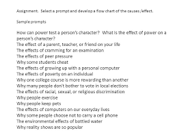 cause and effect essays  children watch a lot of tv they don    t    select a prompt and develop a flow chart of the causes  effect