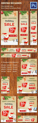 banner ad psd format christmas web ad banners customizable