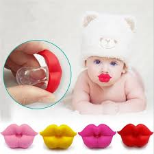 1 Pcs <b>Baby Pacifier</b> Red Kiss Lips Dummy <b>Pacifiers Funny Silicone</b> ...