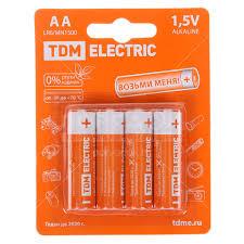 <b>Батарейка TDM Electric</b> AA LR6 Alkaline 1.5V BP-4 TDM SQ1702 ...