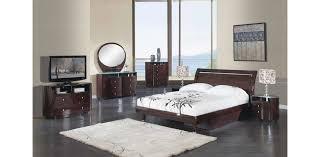 emily bedroom set light oak: emily wenge glossy bedroom set  pc global furniture