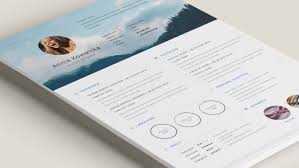 resume templates  creative bloq create a good first impression this ministic resume template