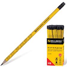 Купить <b>Карандаш чернографитный BRAUBERG</b>, 1 шт ...