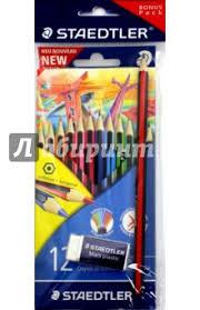 """""""<b>Набор цветных карандашей</b> Wopex <b>Staedtler</b>, 12 цветов + ..."""