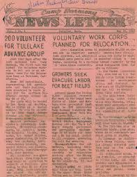 primary documents world wars i and ii description two issues of the camp harmony news letter 1942 05 23 camp harmony news letter 4 pages fourth page printed in ese 1942 06 02