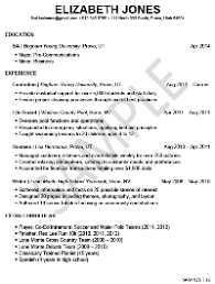 limited experience resume template for students