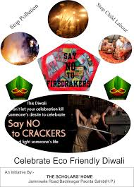 eco club the scholars home the students are gearing up for a different kind of diwali from saying no to fire crackers to cheering up people who are less fortunate